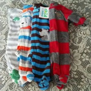 Other - BUNDLE Newborn Footed Pajamas